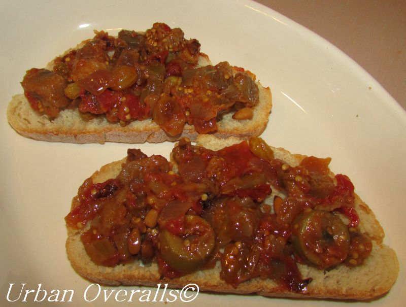 caponata on ciabatta