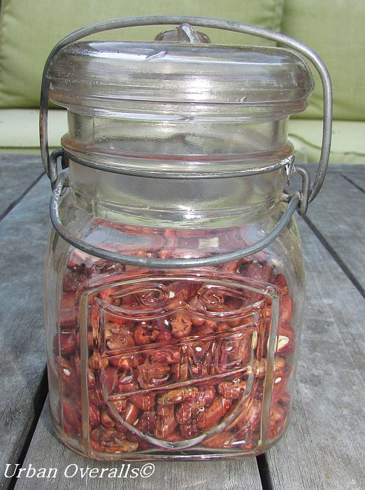 vintage canning jar with wire bail