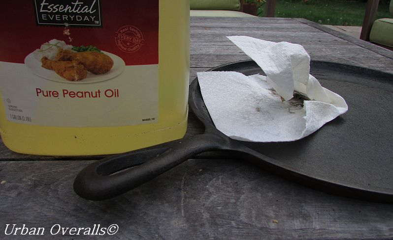 peanut oil rubbed into cast iron