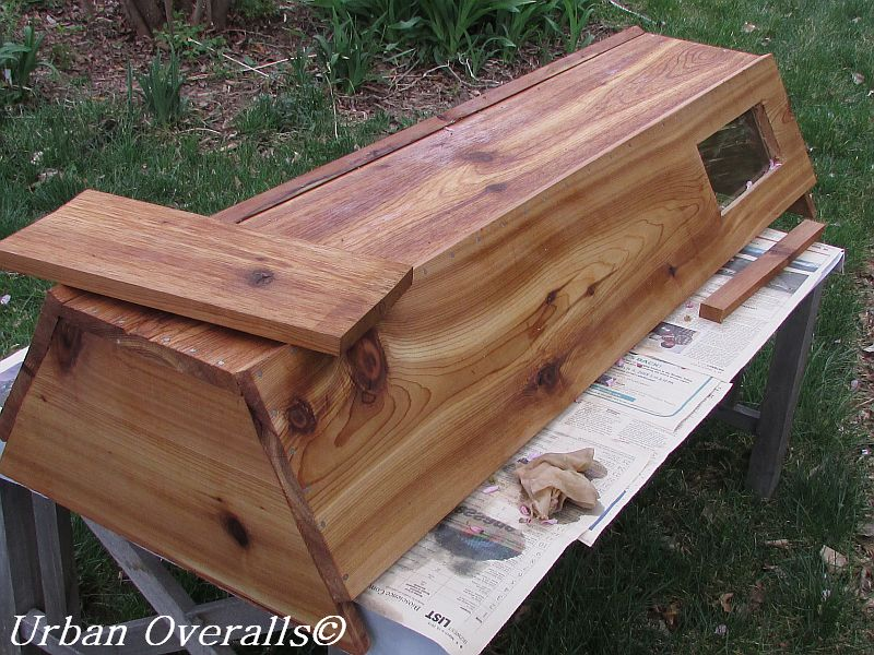 Cedar Beehive With Linseed Oil Beeswax Finish Part 70