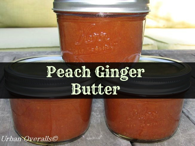 Peach Ginger Butter